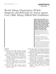 World Allergy Organization (WAO) Diagnosis and Rationale for - SIAIP