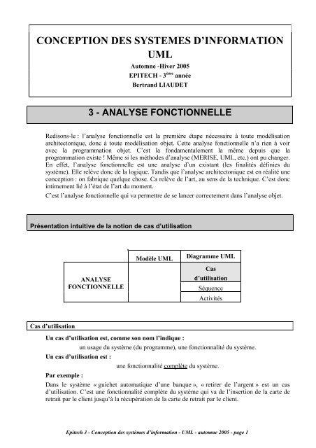 Conception Des Systemes Dinformation Uml Site De Bertrand