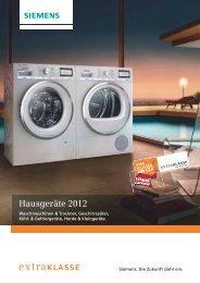 Hausgeräte Extraklasse 2012 - Siemens