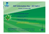 NCP Information Day – ICT Call 4 - RTD