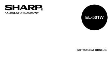 EL-501W Operation-Manual PL - Sharp