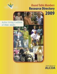 Resources - Active Living Coalition for Older Adults