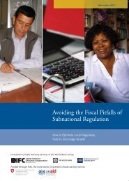 Avoiding the Fiscal Pitfalls of Subnational Regulation - Investment ...