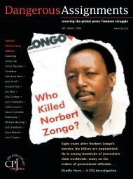 Read the magazine online (PDF) - Committee to Protect Journalists