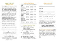 Click here to download the Summer Camp brochure - McLeod Health