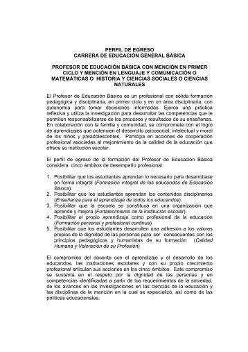 Perfil de egreso EBA - Altavoz