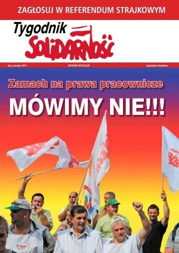 Zamach na prawa pracownicze - NSZZ Solidarność