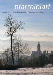 Pfarreiblatt Nr. 01 - pfarrei-ruswil.ch