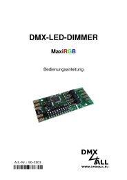 DMX-LED-DIMMER MaxiRGB - DMX4ALL GmbH
