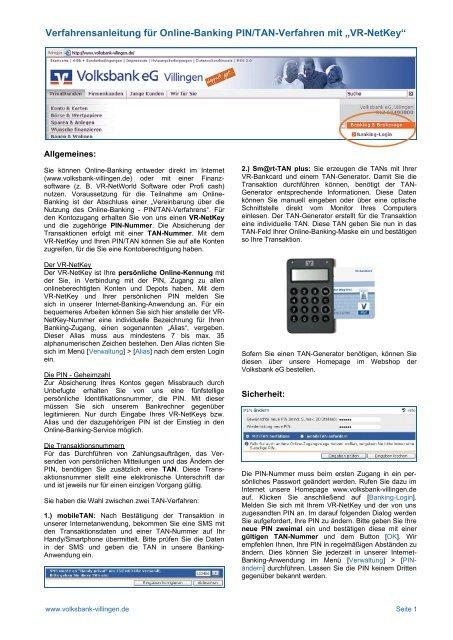 voba lahr online banking login