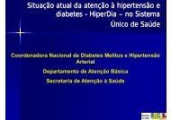 Situação atual da atenção à hipertensão e diabetes HiperDia no ...