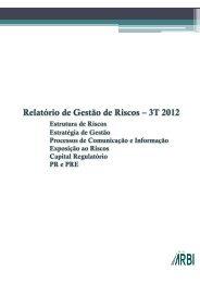 3º Trimestre de 2012 - Banco Arbi