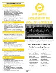 2011 BARGAINING COMMITTEE - UAW Local 2209