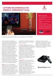 lettore multimediale hd iomega® screenplaytm ... - PC Professionale
