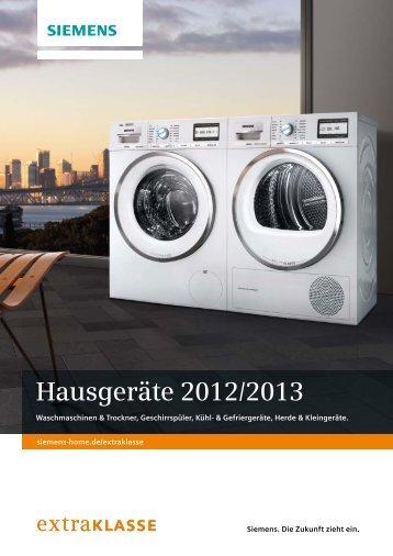 Extraklasse Hausgeräte 2012/2013 - Siemens Hausgeräte