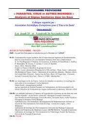 Les Jeudi 25 et Vendredi 26 Novembre 2010 - EDP Sciences