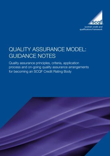 Quality Assurance Model: Guidance Notes - Scottish Credit and ...