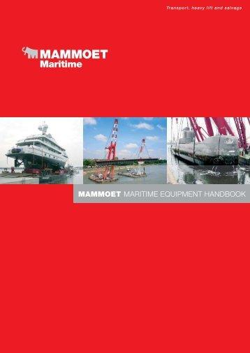 MAMMOET MARITIME EQUIPMENT HANDBOOK - Mammoet BV