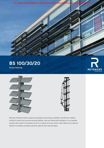 Brise Soleil Brochure - Barbour Product Search