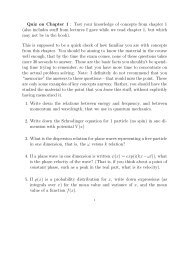 Quiz on Chapter 1 : Test your knowledge of concepts from ... - dirac