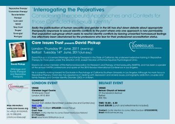 """""""Interrogating the Pejoratives: Considering ... - Core Issues"""