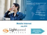 MMA-Lightspeed Research Insights –Mobile Internet