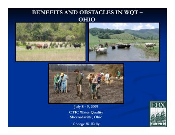 benefits and obstacles in wqt - Conservation Technology Information ...