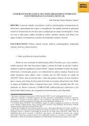 A inserção internacional do cinema brasileiro e ... - Cultura Digital