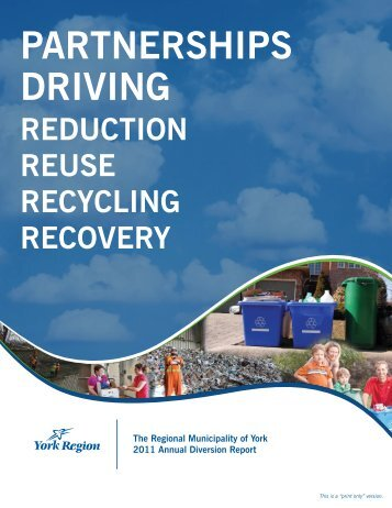 2011 Annual Diversion Report - York Region
