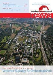 Verkehrs-Highway für TechnologiePark - Technologie Zentrum ...