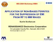 APPLICATION OF NON-BIASED FERRITES FOR THE ...
