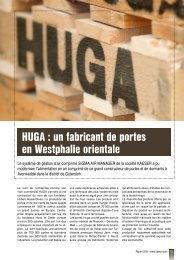 HUGA : un fabricant de portes en Westphalie orientale - Kaeser