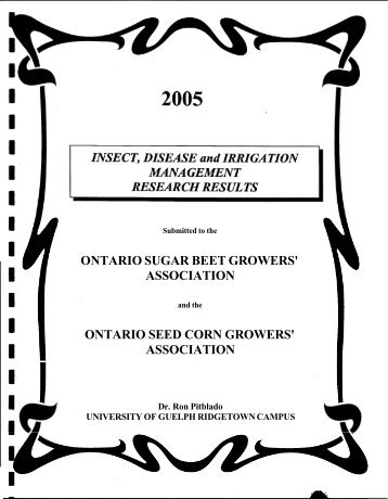 ontario sugar beet growers - Atrium - University of Guelph