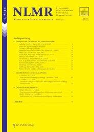 Newsletter Menschenrechte - Jan Sramek Verlag