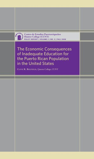 The Economic Consequences of Inadequate Education for the ...