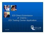 EDI Testing Center Process - Magellan provider website