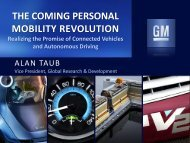 the coming personal mobility revolution - ITSA Connected Vehicle ...