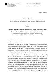 Freihandelsabkommen Schweiz-China, Stand und ... - SinOptic