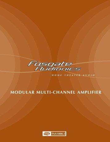 MAN3598B FAA 1000.5 OM.qxd - Fosgate Audionics