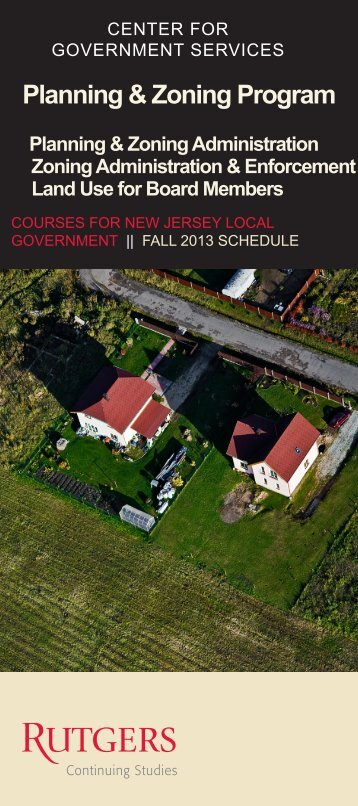 Planning & Zoning Program - Center for Government Services ...