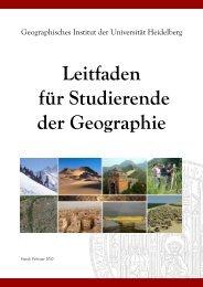Leitfaden für Studierende der Geographie - Geographisches Institut ...
