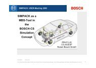 The BOSCH-CS Simulation Concept - Simpack.com