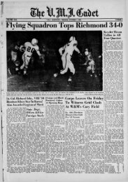 The Cadet. VMI Newspaper. October 01, 1951 - New Page 1 [www2 ...