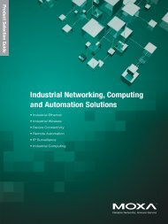 Industrial Networking, Computing and Automation Solutions - Moxa