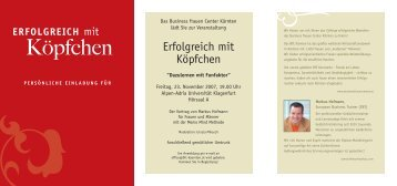 Köpfchen - Business frauen Center Kärnten