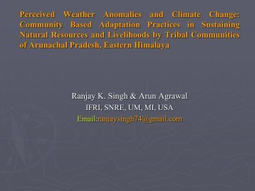 1a. Climate, Vulnerability, and Adaptation Among ... - ICARUS