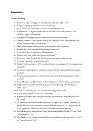 Klausurfragen Thema: Bindung