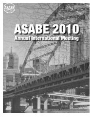 2010 ASABE Annual International Meeting - American Society of ...