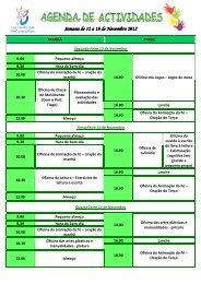 Semana de 12 a 18 de Novembro Novembro Novembro 2012