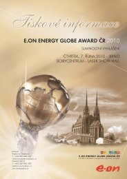 E.ON ENERGY GLOBE AWARD ČR 2010 - ENERGY GLOBE Portal